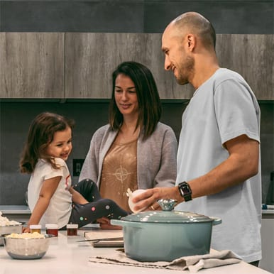 img family in kitchen - About